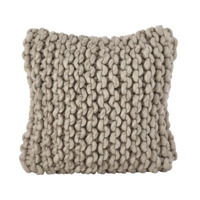 "18""x18"" Chunky Knit Square Pillow Cover - Saro Lifestyle"