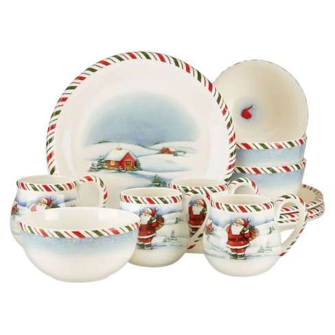 Kathy Ireland Home Once Upon a Christmas 12pc Dinnerware Set - image 1 of 1