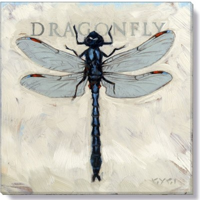 Sullivans Darren Gygi Blue Dragonfly Canvas, Museum Quality Giclee Print, Gallery Wrapped, Handcrafted in USA