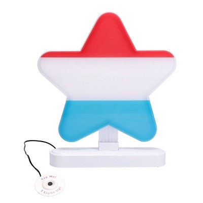 Faux Neon Sign Red White Blue Star - Sun Squad™