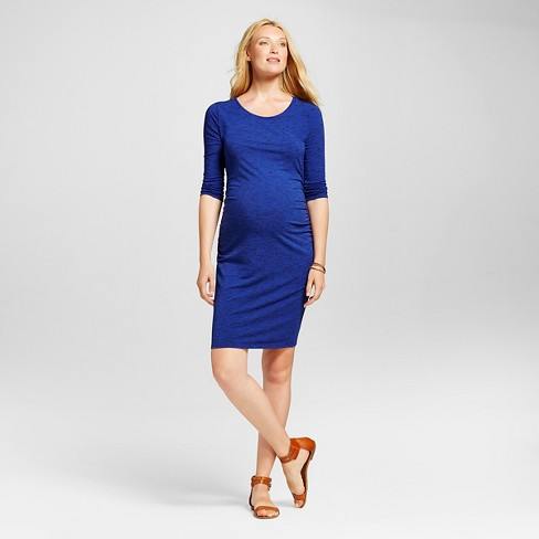 6eb61e05d6270 Maternity Spacedye 3/4 Sleeve T-Shirt Dress Blue Dream/Federal Blue Spacedye  - L - Liz Lange® for Target