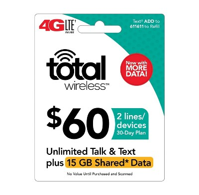 Total Wireless Unlimited Talk & Text (plus Data Plan) - Email Delivery