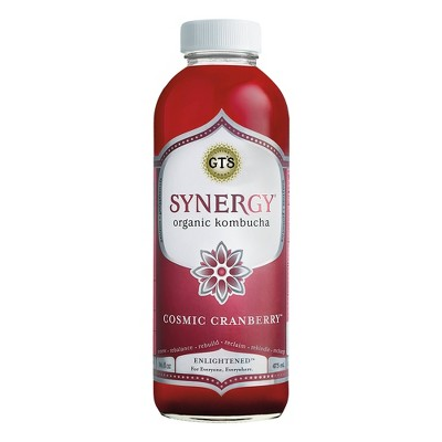 view Synergy Cosmic Cranberry Organic Kombucha - 16 fl oz Bottle on target.com. Opens in a new tab.