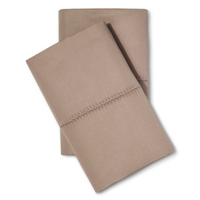 Supima Classic Hemstitch Pillowcase Set (Standard)Light Peet 700 Thread Count - Fieldcrest™
