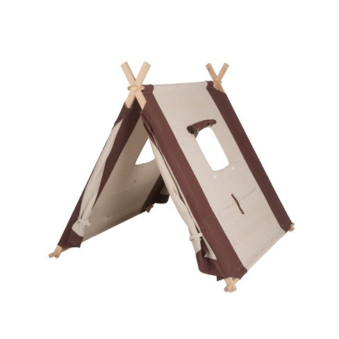 """Pacific Play Tents Natural Linen A Frame Kids Play Tent 45"""" x 42"""" - image 1 of 4"""