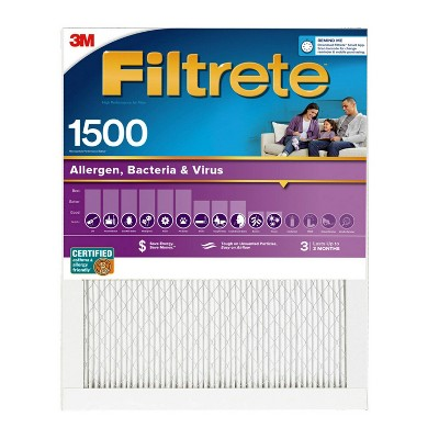 Filtrete 2pk Allergen Bacteria and Virus Air Filter 1500 MPR