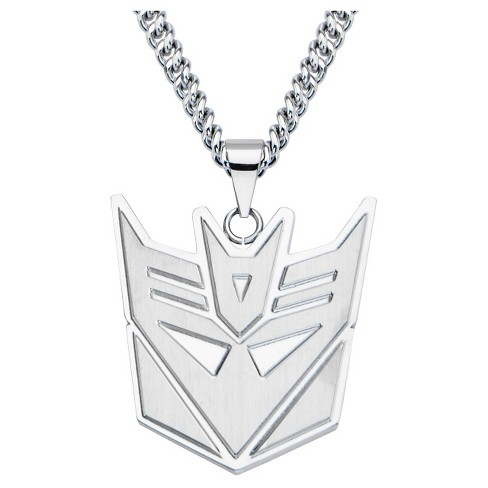 "Men's Hasbro® Transformers Decepticon Stainless Steel Cut Out Pendant with Chain (24"") - image 1 of 2"