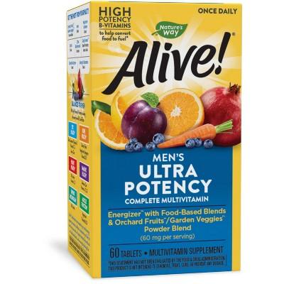 Nature's Way Alive! Men's Ultra Potency Multivitamin Tablets - 60ct