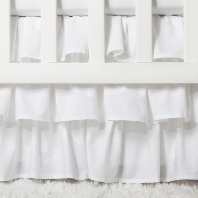 Crib Skirt Ruffle - Cloud Island™ White