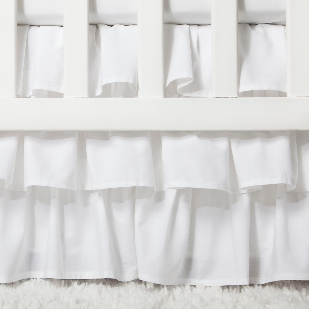 Image of Crib Skirt Ruffle - Cloud Island White