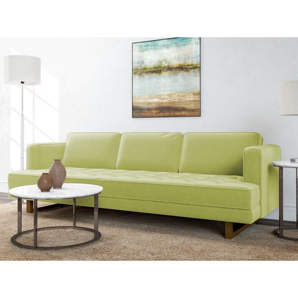 Pearl ModernTufted Sofa Wheatgrass Green - AF Lifestlye