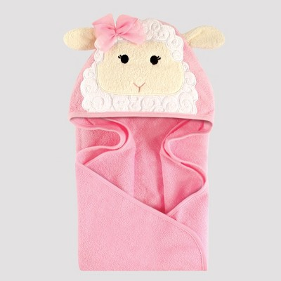 Hudson Baby Girls' Little Lamb Hooded Towel - Ivory One Size