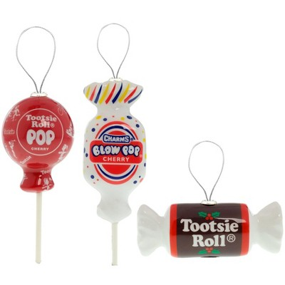 Tootsie Roll, Tootsie Pop, and Blow Pop Tree Ornaments 3ct