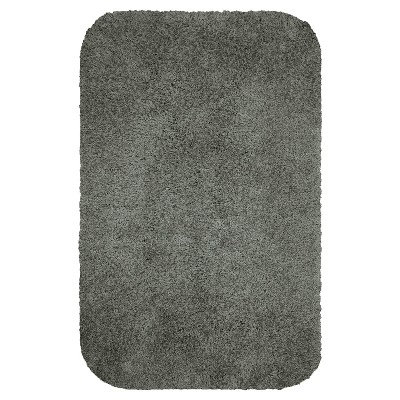 "20""x32"" Solid Bath Rug Matte Pewter - Room Essentials™"