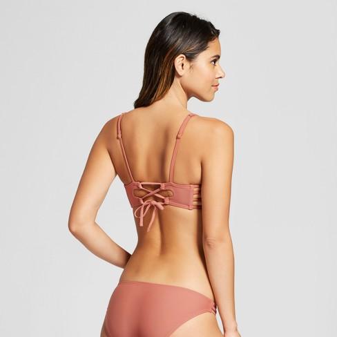 f942e65c68 Women s Embroidered Bralette Bikini Top - Xhilaration™ Clay   Target