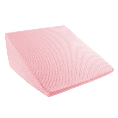 Hastings Home Extra High Memory Foam Wedge Pillow with Antibacterial and Mildew Proof Bamboo Fiber Cover - Pink