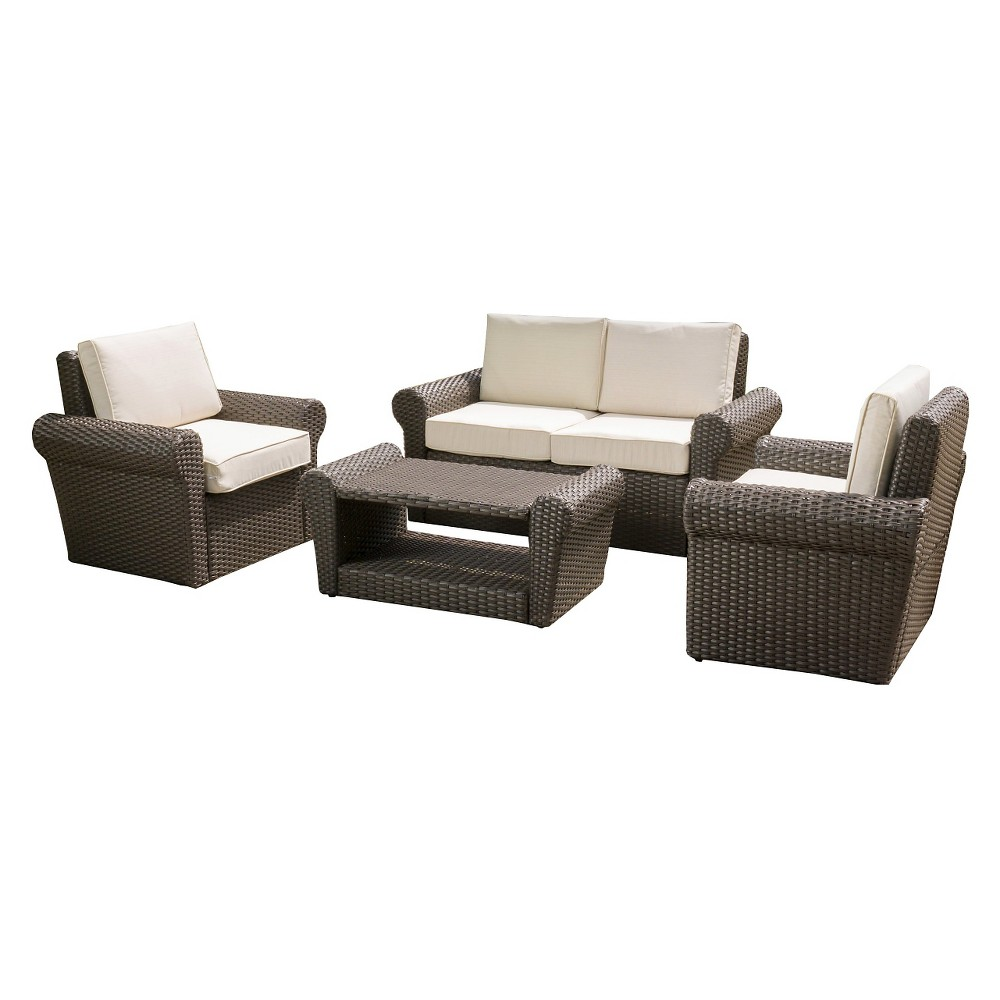 Amaya 4pc Chat Set - Dark Brown - Christopher Knight Home