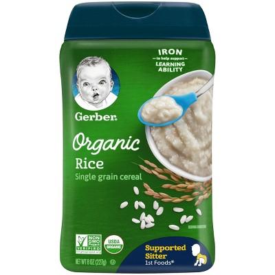 Baby Food: Gerber Organic Cereal