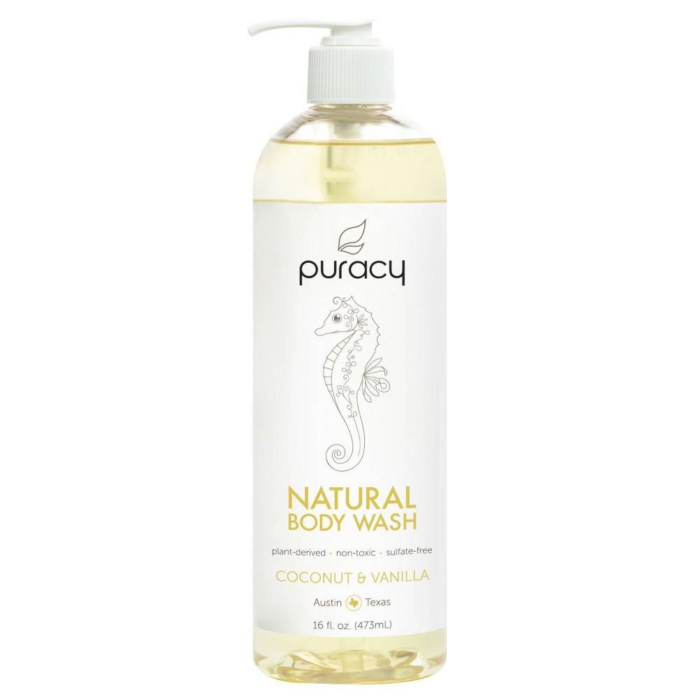 Image of Puracy Coconut & Vanilla Natural Body Wash Shower Gel - 16 fl oz