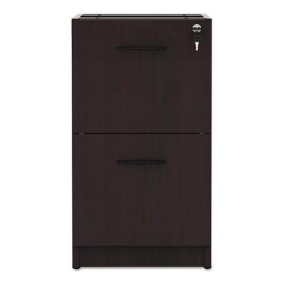 Alera® Valencia 2 Drawer File Cabinet Locking   Mahogany : Target