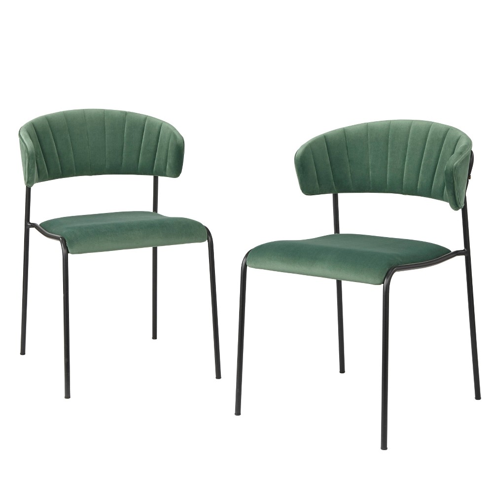 Image of Kalmar Dining Chair Green - Angelo Home