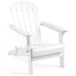 FSC-certified Eucalyptus Wooden Outdoor Adirondack Chair - Plow & Hearth
