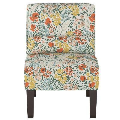 Burke Slipper Chair Cream Floral - Threshold™