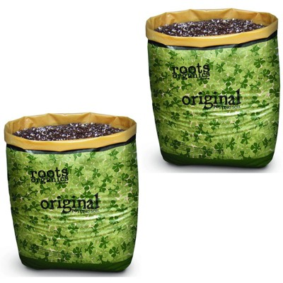 Roots Organics Hydroponic Gardening Fiber Based Potting Soil .75 Cu Ft, 2 Pack