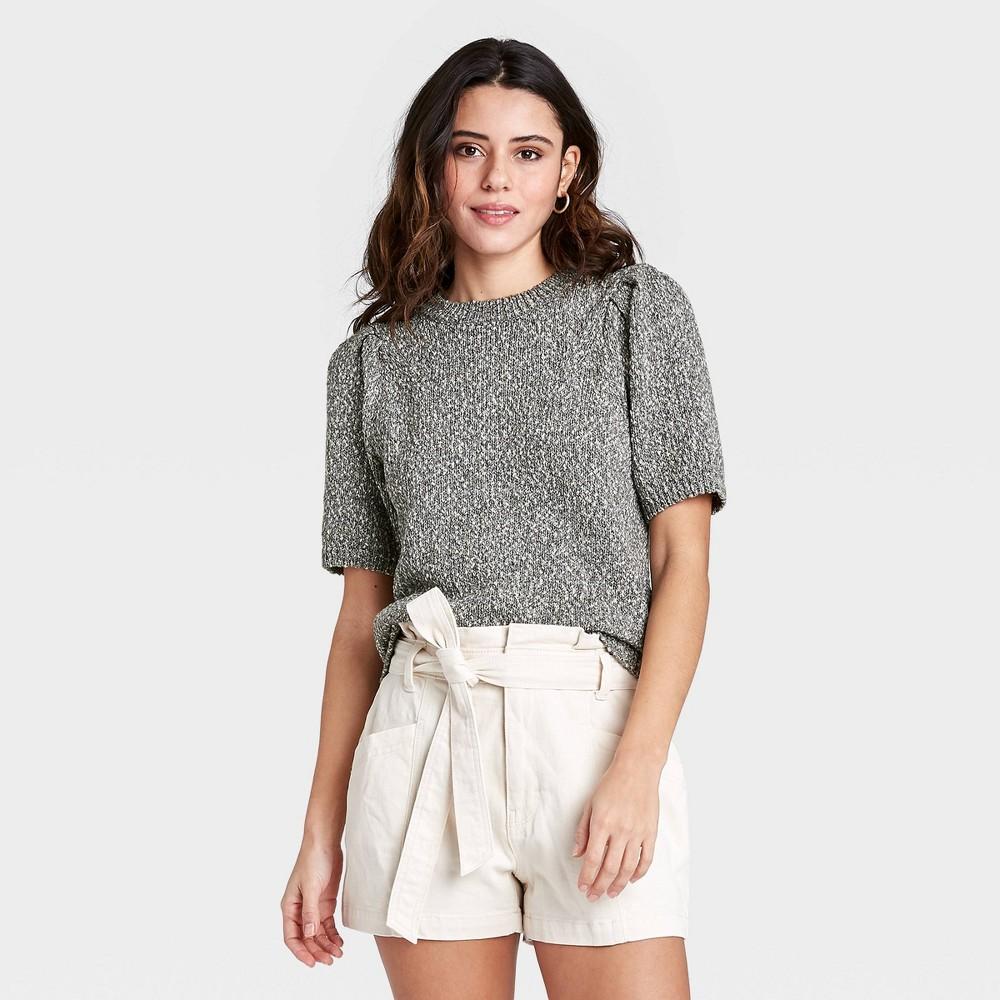 Women 39 S Crewneck Pullover Sweater Universal Thread 8482 Charcoal Gray L