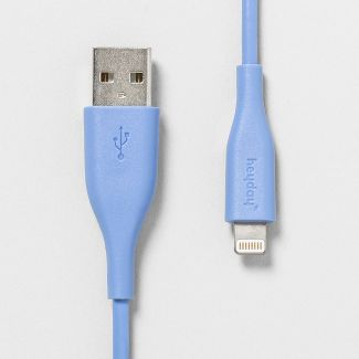 heyday™ 3' Lightning to USB-A PVC Round Cable - Bicycle Blue