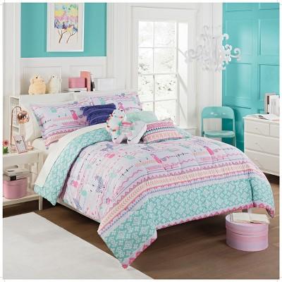 La La Llama Reversible Comforter Sets - Waverly Kids