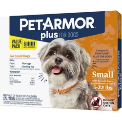 PetArmor Plus Flea and Tick Topical Treatment for Dogs