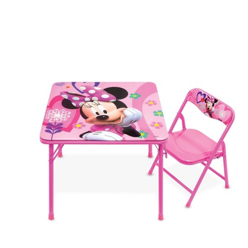 Incredible Disney Minnie Junior Table Chair Set Customarchery Wood Chair Design Ideas Customarcherynet