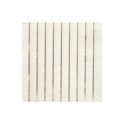 Meri Meri Gold Stripe Large Napkins