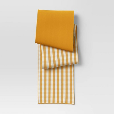 Cotton Gingham Check Table Runner Yellow - Threshold™