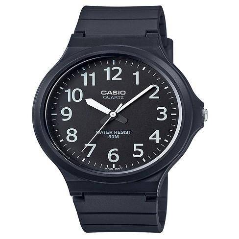 Casio Men's Super Easy Reader Watch, Black/White Dial - MW240-1BV - image 1 of 1