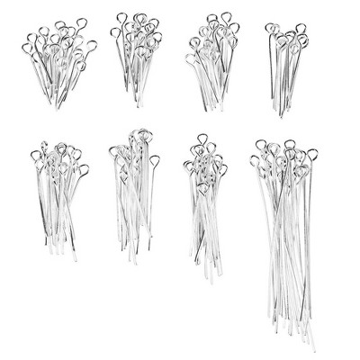 20-Gauge Jewelry Findings Eye Pins for Jewelry Making 1200PC, 8 Different Length