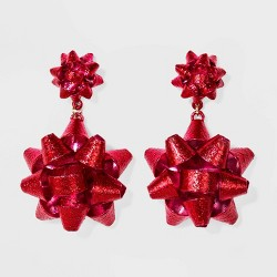 SUGARFIX by BaubleBar Holiday Bow Drop Earrings