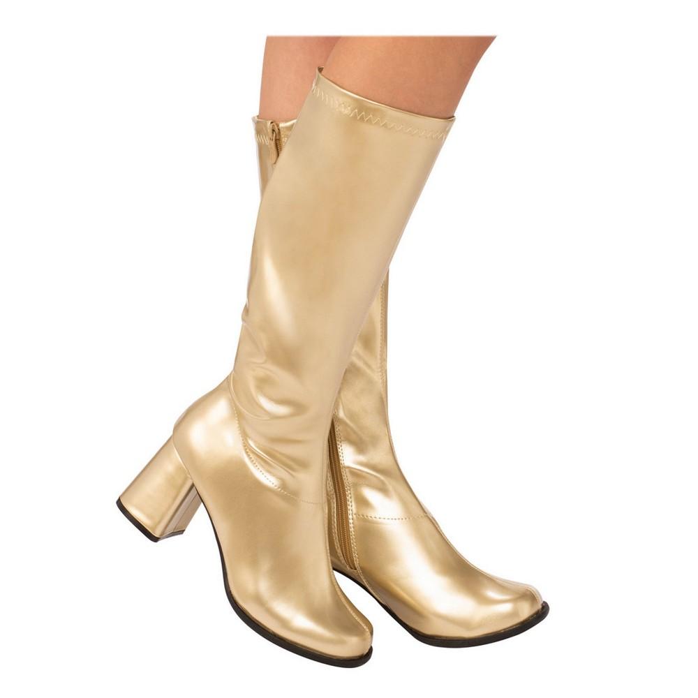 Women's GoGo Costume Boots - Gold 7, Size: 7 Shoe