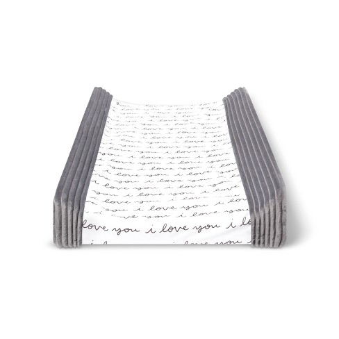 Changing Pad Cover I Love You - Cloud Island™ Gray/White - image 1 of 2