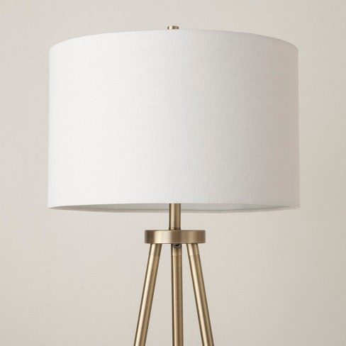 4831582bc3cbd Ellis Tripod Floor Lamp Brass White (Lamp Only) - Project 62™   Target