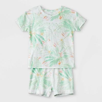 Toddler Boys' 2pc Palms T-Shirt & Shorts Set - art class™ Teal