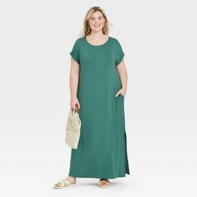 Women's Plus Size Short Sleeve Knit Dress - Ava & Viv™