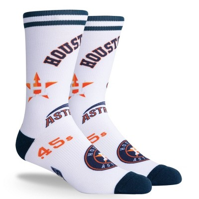 MLB Houston Astros Mixed Up Crew Socks - L