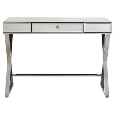 Whitney Mirrored Desk   Chrome   Inspire Q