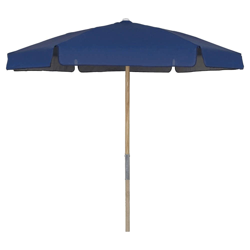 FiberBuilt 7.5' Patio Umbrella Vinyl Weave Navy Blue