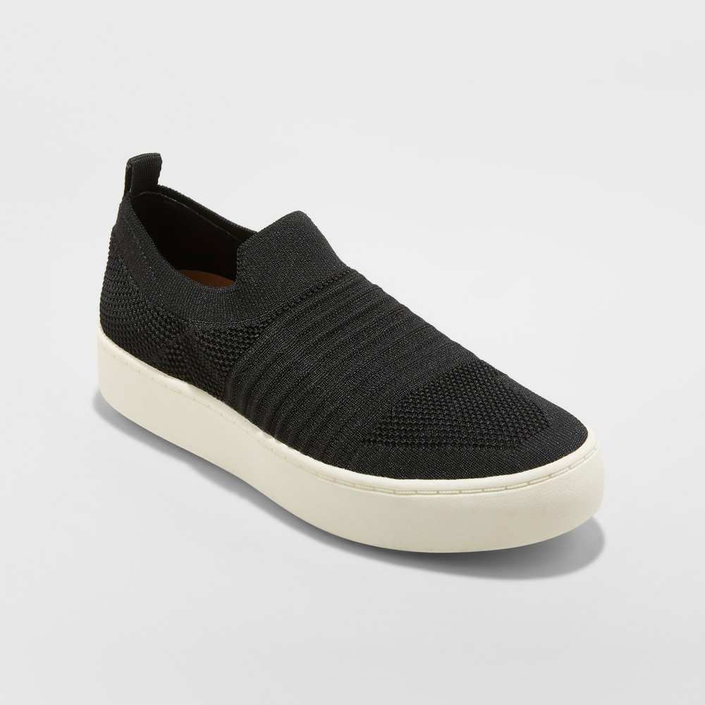 Women's Carina Stretch Knit Sneakers - A New Day Black 7