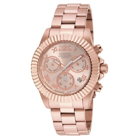 Men's Invicta 16345 Pro Diver Quartz Chronograph Rose Gold Dial Link Watch - Rose Gold - image 1 of 1