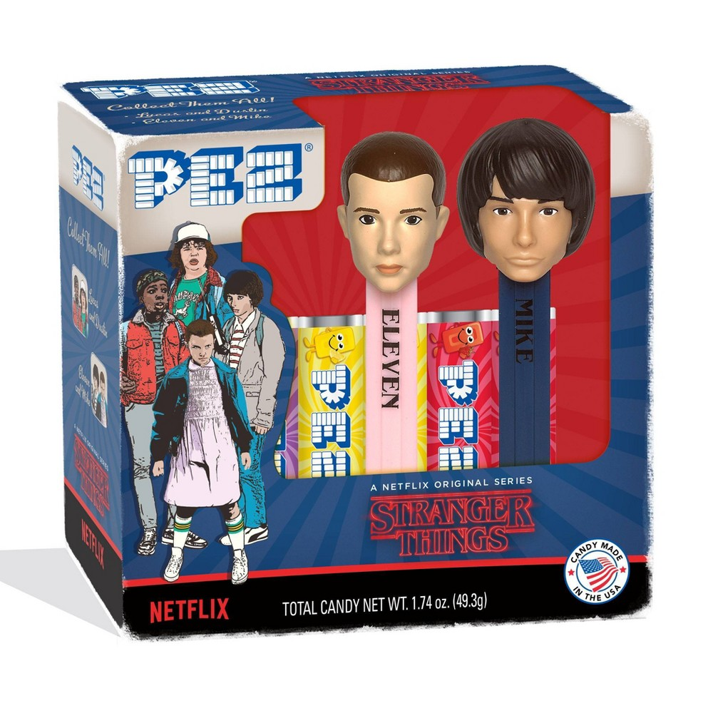 Image of Stranger Things 1.74oz Pez Dispenser & Candy 2pk (Characters May Vary)