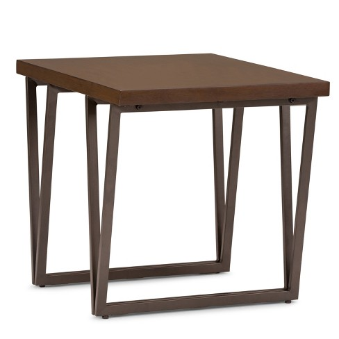 """24"""" Travis Solid Wood End Table Natural Aged Brown - Wyndenhall - image 1 of 4"""